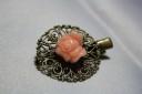 """,,Little rose"""", agrafa de par cu prindere clema, foarte stabila, aspect vintage si romantic; VANDUTA"""