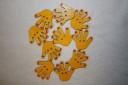 Palme mici, lemn pictat manual si lacuit, 2,8X3cm, pret per buc