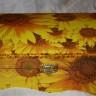 Cutie de bijuterii Floarea-soarelui, realizata prin tehnica decupajului si pictura manuala cu acrilice, finisata cu dublu strat de lac, dim. 20X13,5X9,5 cm; COMADA SPECIALA, se poate reface la comanda