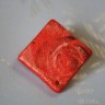 2012-Martisor-brosa din lut, modelata, decorata, pictata si lacuita manual; se prinde cu ac argintiu de brosa si poate fi purtata si dupa sarbatoarea Martisorului