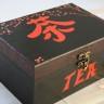 "Cutie japoneza ,,Tea"", comanda speciala; integral pictata si lacuita manual si crapata cu tehnica speciala; 21X15X10 cm; VANDUTA"