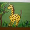 Cutie de bijuterii cu girafa, dim. 8X6X5 cm; VANDUTA