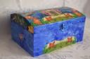 """Caseta bijuterii ,,Pesti""""; lemn; lungime: 27 cm; comanda speciala; vanduta"""