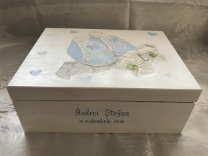 cutie botez amintiri bebe