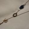 """Colier ,,Cer printre norisori pufosi"""", foarte frumos, realizat din kyanite (pietre foarte rare, cele albastrui), perle rare in forma de norisori si perle japoneze Biwa; alaturi de citrin, kyanitele sunt singurele pietre care nu necesita purificare, ele aduc energii pozitive fara a se incarca cu cele negative; accesoriile metalice sunt din bronz; colierul este lung si versatil, putand fi asezat in functie de lungimea dorita si de potrivirea cu tinuta vestimentara; DEOSEBIT; UNICAT"""