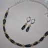 """,,Interetnic"""" sau un set care vorbeste despre armonia care rasare la imbinarea perlelor Swarovski (Austria) cu perlele japoneze Biwa; un set finut si deosebit; lungime desfasurata colier: 52 cm; cercei: 4 cm; accesoriile metalice sunt placate cu argint, iar lantul este otel argintat; UNICAT; VANDUT"""