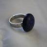 """,,Lapis"""", inel realizat din piatra naturala de lapis lazuli pe baza argintie reglabila; VANDUT"""