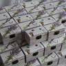 """Marturii nunta ,,Lavande de provence"""", model lavanda pentru o nunta cu iz romantic si alura vintage; mini-cufere din lemn, pictate si decorate manual; dimensiuni: L 9 cm, l 5,5 cm, h 5 cm; pot fi umplute cu bombonele, o mica bijuterie, o scrisorica de multumire, etc; cuferele se personalizeaza pe capacul interior cu numele mirilor si data evenimentului; pentru o protectie suplimentara si pentru un plus estetic, acestea sunt lacuite; pretul afisat este pe unitate"""