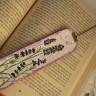 Semn de carte ,,Lavanda 2″, lucrat pe piele naturala si cu margele din ochi de pisica; pictat si lacuit manual; comanda speciala; VANDUT